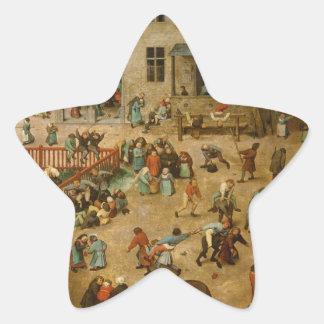 Pieter Bruegel la anciano - los juegos de los Calcomanías Forma De Estrellas