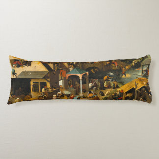 Pieter Bruegel la anciano - los proverbios Almohada Larga