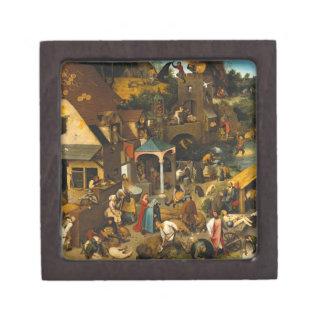 Pieter Bruegel la anciano - los proverbios Cajas De Joyas De Calidad
