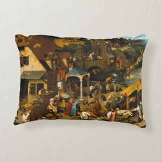 Pieter Bruegel la anciano - los proverbios Cojín Decorativo