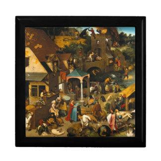 Pieter Bruegel la anciano - los proverbios Joyero Cuadrado Grande