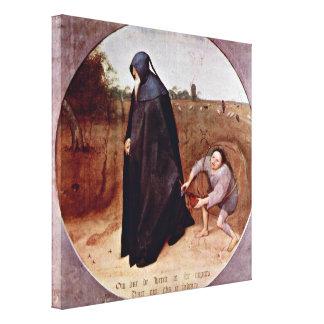 Pieter Bruegel la anciano - misántropo Lona Envuelta Para Galerias
