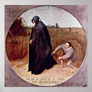 Pieter Bruegel la anciano - misántropo Poster