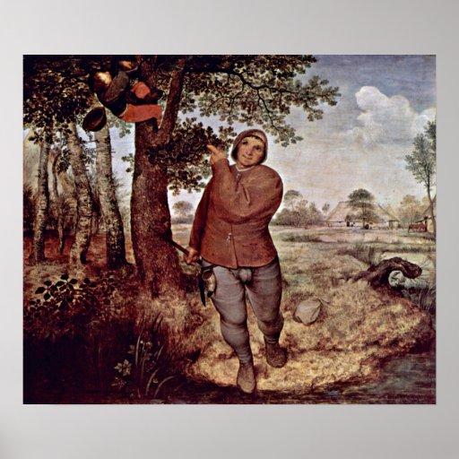Pieter Bruegel la anciano - Nestausnehmer Posters