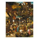 Pieter Bruegel la anciano - proverbios de Netherla Membretes Personalizados