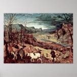 Pieter Bruegel la anciano - vuelta de la manada Poster