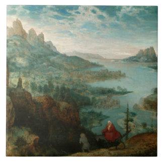 Pieter Bruegel - Landscape with flight into Egypt Ceramic Tile