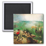 Pieter Bruegel Landscape with the Fall of Icarus 2 Inch Square Magnet