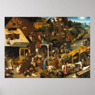 Pieter Bruegel los más viejos proverbios de Nether Impresiones