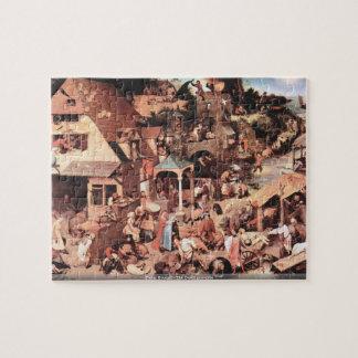 Pieter Bruegel - los proverbios holandeses Rompecabeza Con Fotos