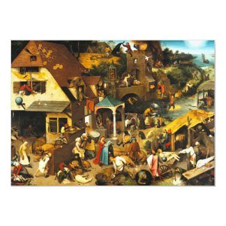 Pieter Bruegel Netherlandish Proverbs Invitations