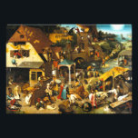 "Pieter Bruegel Netherlandish Proverbs Photo Print<br><div class=""desc"">Pieter Bruegel Netherlandish Proverbs print. Oil on panel from 1559. Pieter Bruegel the Elder painted Netherlandish Porverbs (Also known as The Topsy Turvy World) in 1559. The work depicts over 112 different proverbs playing out in a wild scene of hijinks and hypocrisy. A great gift for fans of Northern Renaissance...</div>"