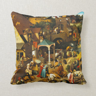 Pieter Bruegel Netherlandish Proverbs Throw Pillow