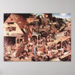 Pieter Bruegel-The Dutch proverbs Poster