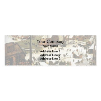 Pieter Bruegel the Elder- Census at Bethlehem Double-Sided Mini Business Cards (Pack Of 20)