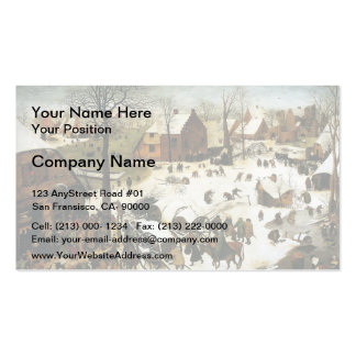 Pieter Bruegel the Elder- Census at Bethlehem Double-Sided Standard Business Cards (Pack Of 100)