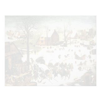 Pieter Bruegel the Elder- Census at Bethlehem Personalized Letterhead