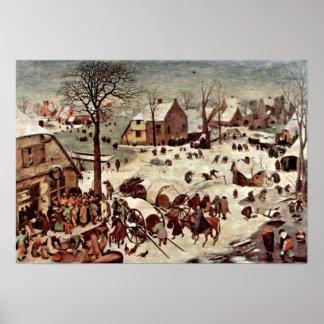 Pieter Bruegel the Elder - Census at Bethlehem Poster