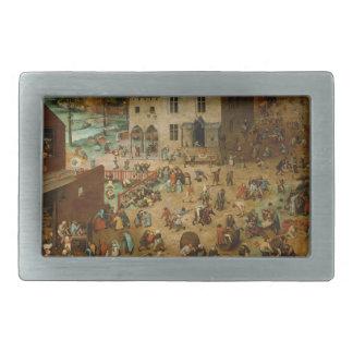 Pieter Bruegel the Elder - Children's Games Belt Buckles
