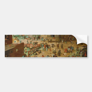 Pieter Bruegel the Elder - Children's Games Bumper Sticker