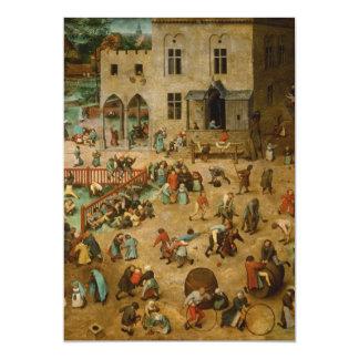 Pieter Bruegel the Elder - Children's Games Card