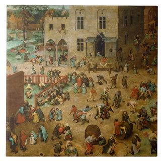 Pieter Bruegel the Elder - Children's Games Ceramic Tile