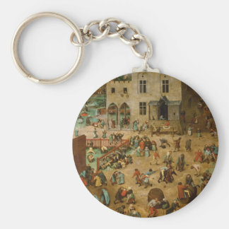 Pieter Bruegel the Elder - Children's Games Keychain
