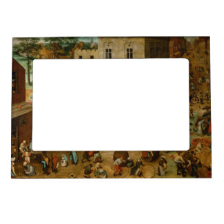 Pieter Bruegel the Elder - Children's Games Magnetic Picture Frame