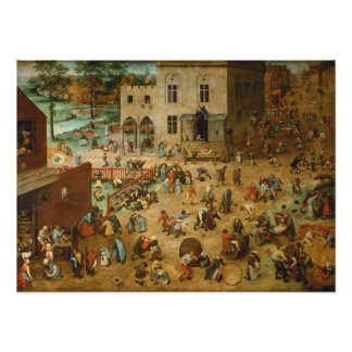 Pieter Bruegel the Elder - Children's Games Photo Print