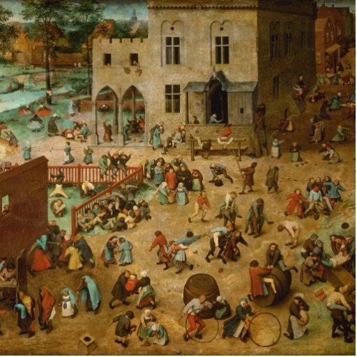 Pieter Bruegel the Elder - Children's Games Photo Cut Out
