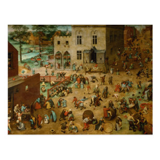 Pieter Bruegel the Elder - Children's Games Postcard