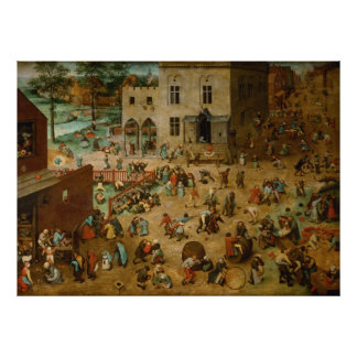 Pieter Bruegel the Elder - Children's Games Poster