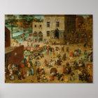 Pieter Bruegel the Elder - Children's Games Poster
