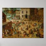 Pieter Bruegel the Elder - Children's Games Print