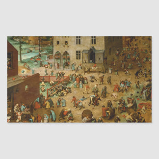 Pieter Bruegel the Elder - Children's Games Rectangular Sticker