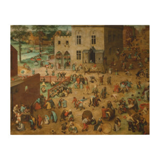 Pieter Bruegel the Elder - Children's Games Wood Wall Decor