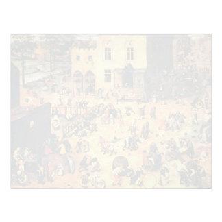 Pieter Bruegel the Elder- Children's Games Customized Letterhead