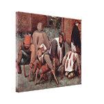 Pieter Bruegel the Elder - Die cripple Canvas Prints