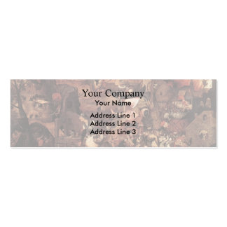 Pieter Bruegel the Elder- Dulle Griet (Mad Meg) Double-Sided Mini Business Cards (Pack Of 20)