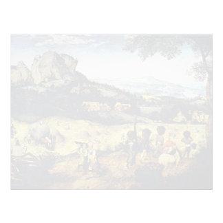 Pieter Bruegel the Elder- Haymaking Letterhead Design