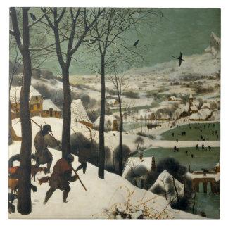 Pieter Bruegel the Elder - Hunters in the Snow Ceramic Tile