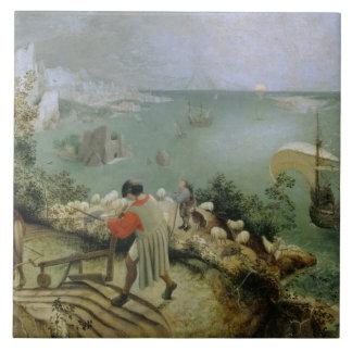 Pieter Bruegel the Elder -Landscape Fall of Icarus Ceramic Tile