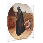 Pieter Bruegel the Elder - misanthrope Gallery Wrapped Canvas