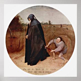 Pieter Bruegel the Elder - misanthrope Poster