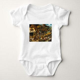 Pieter Bruegel the Elder - Netherlandish Proverbs Baby Bodysuit