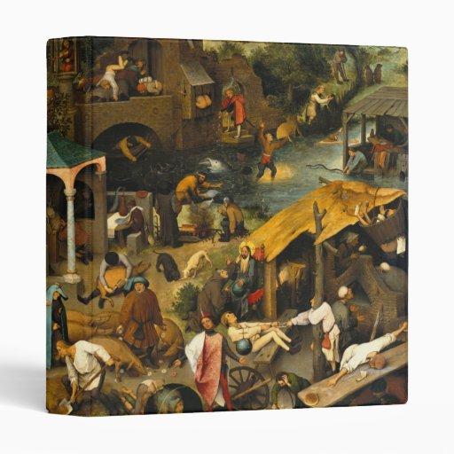 Pieter Bruegel the Elder - Netherlandish Proverbs Vinyl Binder