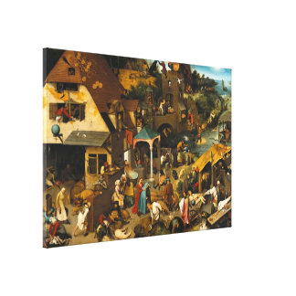 Pieter Bruegel the Elder - Netherlandish Proverbs Canvas Print