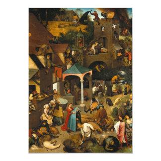 Pieter Bruegel the Elder - Netherlandish Proverbs Card