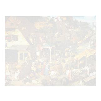 Pieter Bruegel the Elder- Netherlandish Proverbs Letterhead