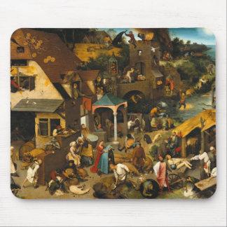 Pieter Bruegel the Elder - Netherlandish Proverbs Mouse Pad